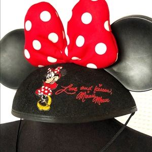Minnie Mouse Ears Bow Hat Youth size